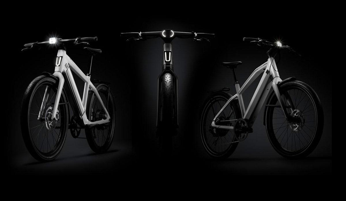 collage of three stromer bikes