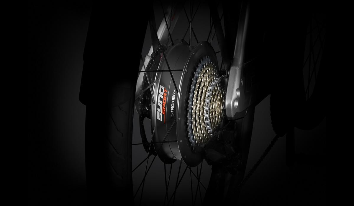 Stromer ST5 Limited Edition rear-wheel motor with sports mode.